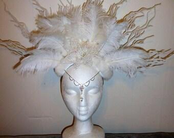 Winter White Queen Headdress