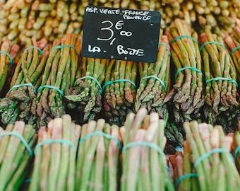 Food Photography, Asparagus Print, Kitchen Art Print, Green Kitchen Decor, Home Kitchen Decor, Vegetable Photograph, Nice Print, Art Photo