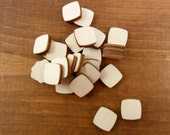 """25 Squares Rounded Stud Earring 1/2"""" (12mm) x 1/8"""" (3.175mm) Thick Unfinished Wood Cutouts Jewelry Shapes"""