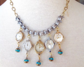 Upcycled vintage statement necklace