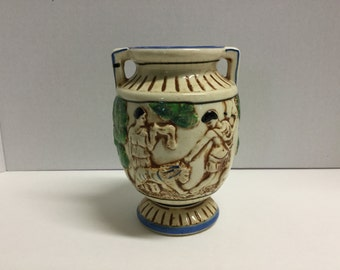 Vintage Grecian Urn Greek Urn Made in Japan Urn Vase