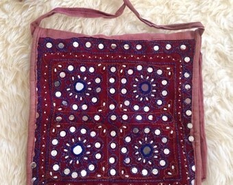 Indian Mirrored Embroidered Hippie Bag