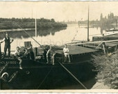 Vintage Photo, Crew on River Barge, Sailors, Black & White Photo, Found Photo, Old Photo, Vernacular Photo, Nautical Photo   German005