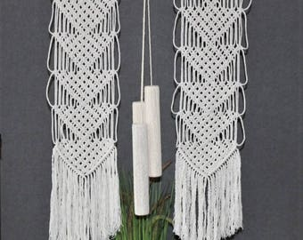 Macrame wall hanging - Bohemian macrame wall hanging - Handmade - Wall Art - Boho Macrame home decor - Ivory - White