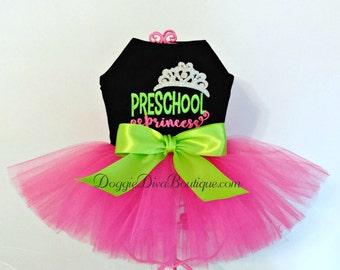 Dog Dress - Dog Tutu Dress - Preschool Princess - XS, Small or Medium