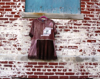 1X /Silk of Mist Dress/Eco/Rustic/Upcycled/Boho/Country living/Cottage Chic #10