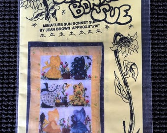 Miniature Sun Bonnet Sue Quilt Pattern Jean Brown UNCUT