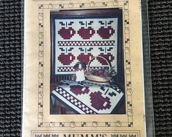 Vintage An Apple A Day Debbie Mumm Quilt Pattern