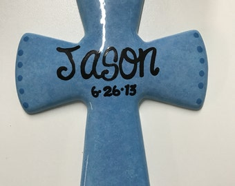 Personalized cross wall hanger