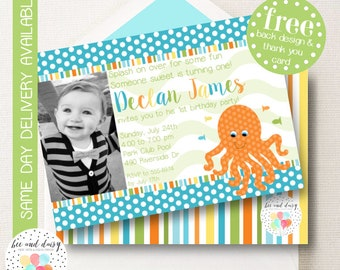 Under the Sea Invitation, Under the Sea Birthday Invitation, Under the Sea Party, Boy First Birthday, Boy Birthday, Under the Sea Invite