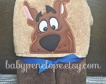 Scooby Doo Hooded Towel- Baby Hooded Towel - Girl/boy Towel - Scooby Doo birthday gift - Personalized Christmas Gift for Boy