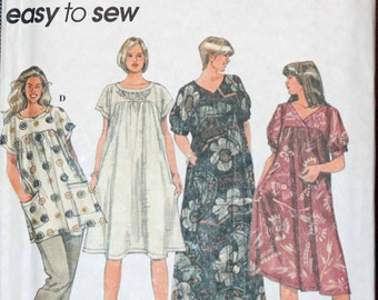 Size 18 20 22 24 Simplicity 9548 Pullover Dress or Tunic Caftan  Misses Womens Sewing Pattern Sew Uncut