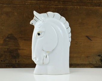 Horse Head Wall Pocket Vase Made In Japan PAT. NO. 64211 Hand Painted Porcelain