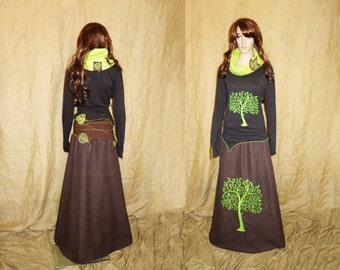 Tree of life leaf woodland skirt