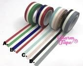 Flag like Stripe Washi Tape 1.5 cm x 10meters WT264