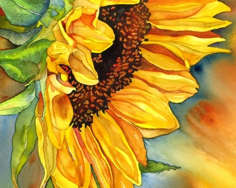 SUN DIVA - Giclee Print of Original Watercolor Painting