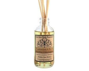 Frankincense and Myrrh, reed diffuser oil, frankincence diffuser, diffuser refill, meditation diffuser,  incense, patchouli,  yoga