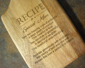 SPECIAL MOM Recipe Cutting Board - Mother's Day gift
