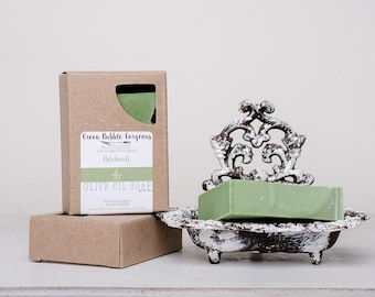 Olive Oil Soap, Patchouli, made with organic oils and essential oils, by greenbubblegorgeous