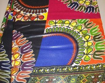 Per Yard Dashiki print Patchwork Style fabric / Dashiki print Dresses/ Patchwork Dashiki clothing/Dashiki Patchwork Skirt