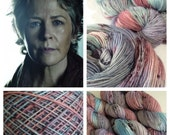 "Dyed to Order, ""Mutha-Effing Carol"", The Walking Dead Inspired, Hand Dyed, SW Merino Wool, Knitting, Crochet, Indie Dyed Yarn"