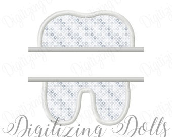 Split Tooth Applique Machine Embroidery Design 3x3 4x4 5x5 6x6  Dentist Dental Assistant hygenist Doctor INSTANT DOWNLOAD