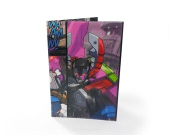 Transformers Passport Cover - Upcyced Comic in Vinyl