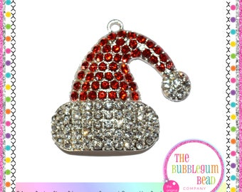 Rhinestone santa hat etsy for Red hat bling jewelry