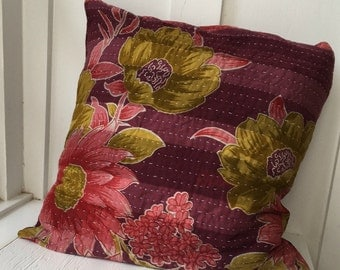Kantha Boho Cottage Pillow Cover 8