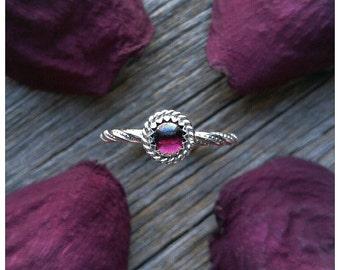 Garnet Ring Size 7 Sterling Silver Red Stone Gemstone January Birthstone 925 Jewelry