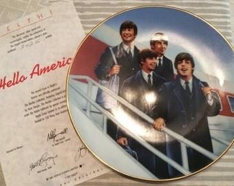 "Beatles ""Hello America"" collector plate"
