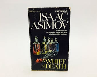 Vintage Mystery Book A Whiff of Death by Isaac Asimov 1987 Paperback