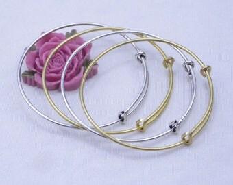 15 bracelets, Bangle, metal wire bracelet, adjustable bracelet, Gold Cuff Bracelet Bangle, Silver Cuff Bracelet Blank, metal wire bangle