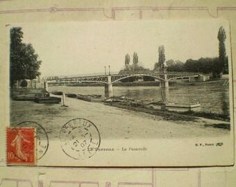 Le Perreux - 1907 - Antique French Postcard - La Passerelle