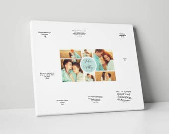 Canvas Guest Book, Various Sizes, Photo Wedding Guest Book, gb0074