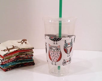 Eco-Friendly Cofffee/Tea Sleeve - Owls