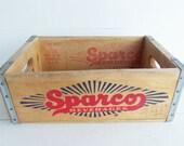 Vintage Sparco Soda Pop Crate 1968, Kenosha Wisconsin