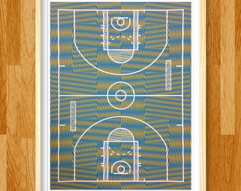 Moiré is Life basketball art print