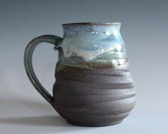 Unique Coffee Mug, 20 oz, handmade ceramic cup, handthrown mug, stoneware mug, pottery mug unique coffee mug ceramics and pottery