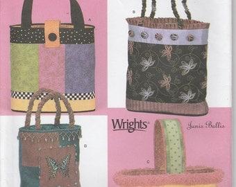 Tote bag Pattern Market Bag Purse Lined Bag Uncut Simplicity 4294