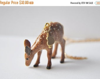 Sale, Deer Necklace, Fawn Necklace, Woodland Necklace, Animal Necklace, Nature Necklace, Unique Necklace, Animal Jewelry, Nature Jewelry, de
