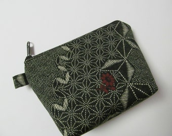"Zipper Pouch/Kyoto Collection/4.5""x6""x2"""