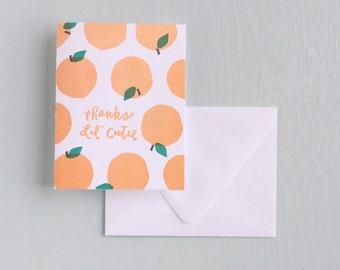 Letterpress Card- Thanks Lil' Cutie!