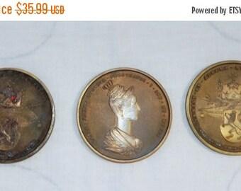 60% OFF Set Of 3 vintage 60s Reproduction of 1836 Maria Anna Avgvsta FERDINANDI I Imp Et Regis Set of 3