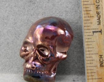 Handmade Raku Skull Cabochon