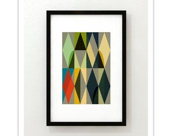 ENTWINE no.3  - Geometric Mid Century Modern Abstract Art Print