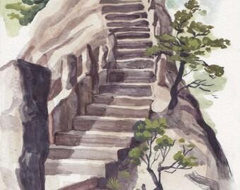 Fairy Path Steps-Mini Landscape Painting