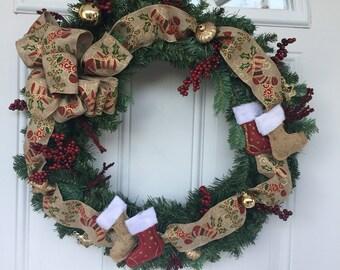 Outdoor door decoration, front door wreath, door hanging, winter wreath, door decoration, Christmas wreath, Christmas decoration, wreath