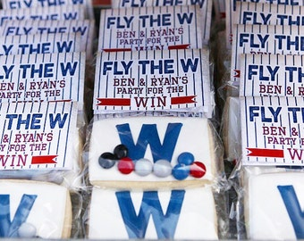 Baseball FLY THE W Favor Bag Toppers by Beth Kruse Custom Creations