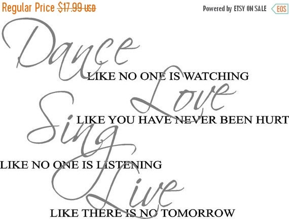 ON SALE Dance like nobody is watching...